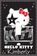 PERSONALIZED HELLO KITTY KISS ROCK STAR LIGHT SWITCH PLATE COVER