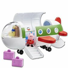 PEPPA PIG ~ Air PEPPA JET PLANE Playset ~ Inc PEPPA FIGURE e bagagli
