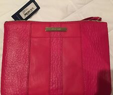NWT Leather COLE HAAN Wallet Clutch Large Pouch - Cosmetic Bag Pink  $118