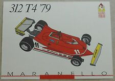 FERRARI Galleria 1993 312t4 f1 1979 Scheda Card brochure prospetto book libro Press
