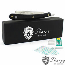 BARBERS CUT THROAT RAZOR SHAVETTE SET COMPLETE WITH BLADES AND BOX RASOIRS RASOI