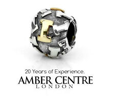 Genuine Pandora Silver and Gold Charm - Letter I - 790298I