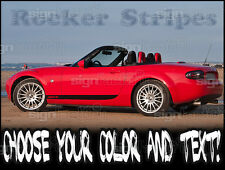 2006 - 2014 Mazda Miata MX5 Custom Rocker Racing Stripes Graphics