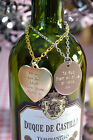 Engraved bottle decanter Christmas gift tag wine label personalised on chain