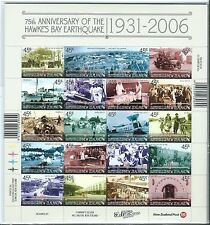 NEW ZEALAND 2006 HAWKES BAY EARTHQUAKE SHEETLET OF 20 UNMOUNTED MINT