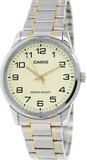 Casio Men's Analog Quartz Two Tone Stainless Steel Watch MTPV001SG-9B