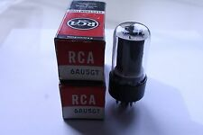 PAIR (QTY 2) 6AU5GT RCA VINTAGE TUBES - NOS IN BOXES
