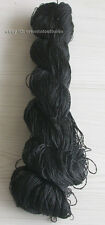 Chinese 100%real natural mulberry silk,hand-dyed embroidery black floss/thread