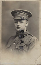 WW1 Soldier AIF Australian Imperial Forces wears waterproof cap cover Melbourne