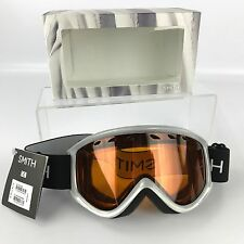 Smith Electra Silver Frame Snowboard Goggles with Gold Lite Lens