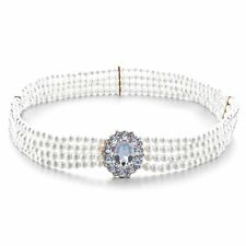 Women Ladies Girls Rhinestone Belt Diamante Buckle White Pearl Waist Bridal 711
