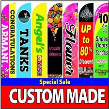 15' Full color custom Tall swooper Advertising feather Flag Banner - No Hardware