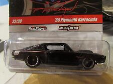 Hot Wheels Phil's Garage Real Riders Tires 68 Plymouth Barracuda #22 of 39 Black