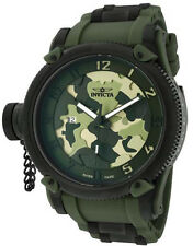 New Mens Invicta 1197 Swiss Made Russian Diver Green Army Camouflage Watch