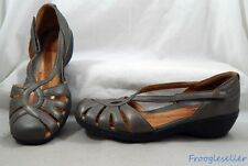 UnStructured by Clarks womens loafers shoes 11 N pewter leather