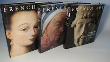 1994 - 96 'FRENCH ART' by ANDRE CHASTEL 3 VOLS - PREHISTORY, RENAISSANCE, ANCIEN