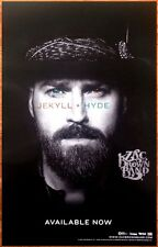 ZAC BROWN BAND Jekyll + Hyde 2015 Ltd Ed RARE Poster +FREE Country Rock Poster!