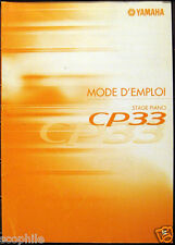 Yamaha French Manual Mode D'Emploi for CP33 Stage Piano Keyboard, Original