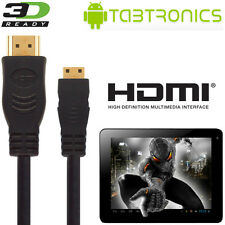 Tabtronics M009S, Quantum Tablet PC HDMI Mini a HDMI TV Cable De Plomo De Alambre 2.5m