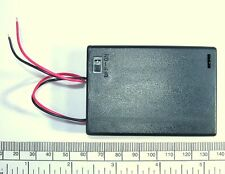 Battery holder for 3 X 'AA' (UM-3) cell - with leads - hard case - with switch
