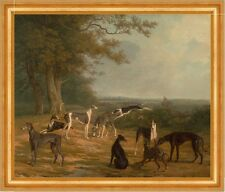 Nine Greyhounds in a Landscape Jacques-Laurent Agasse Windhunde Tiere B A3 02347