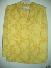 SNAKE ESCADA LAUREL CLASSICS LUXUS COUTURE Blazer Jacket 34/36 Animal gelbyellow
