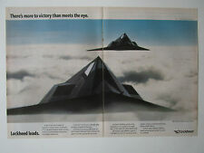 4/1991 PUB LOCKHEED F-117 STEALTH FIGHTER US AIR FORCE DESERT STORM ORIGINAL AD