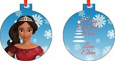 Personalized Elena of Avalor Christmas Ornament ( Add Any Message You Want)