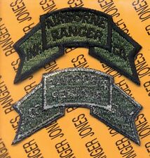 US Army AIRBORNE RANGER Infantry Company Scroll Vietnam era OD Green patch c/e