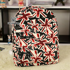 Union Jack Painting Rucksack Women Men Canvas Backpack Travel SchoolBag