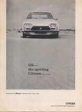 Citroen GS Reprint article from Motor 1970
