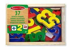 Melissa and Doug 10449 Wooden Magnetic Numbers Educational Maths Set New