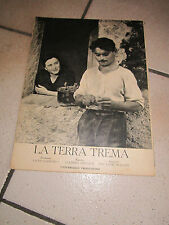 cinema rivista 1949 LA TERRA TREMA VISCONTI NEOREALISMO,NON C'E' PACE TRA ULIVI