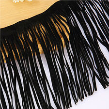 Fringe -Fashionable Suede Leather Trim Lace Dress DIY Craft Clothing Textiles