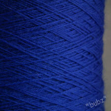 LOVELY SOFT PURE MERINO WOOL 2 PLY 350g CONE ROYAL BLUE YARN HAND MACHINE KNIT