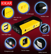 KIKAR Heavy Duty Jump Starter for Car Boat Vans Truck 16800mAh 600A Peak Current