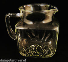 "Star Federal Glass company 6"" 36 oz Juice Pitcher Depression glass 1950s vintage"