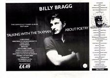 """27/9/86pg12 Album Advert 7x10"""" Billy Bragg, Talking With The Taxman About Poetry"""