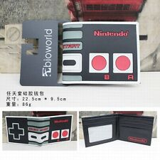 Nintendo PVC Wallet Anime Cartoon Printed Bifold Purse Free Shipping
