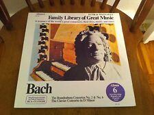 Bach Brandenburg Concertos No 2 & 6 Clavier Concerto In D Minor Record album LP