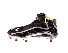 UNDER ARMOUR UA Men's Fierce Havoc Mid D Black/Black Football Cleats Mens 13.5