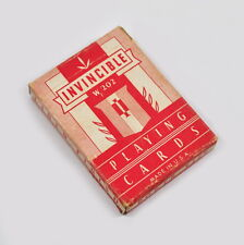 Invincible playing CARDS w 202-vintage JEU de CARTES-états-unis-poker size cuisine