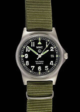 MWC G10 LM Stainless Steel Military Watch with screw caseback -  Date Version