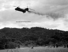 "Marine CH-46 Sea Knight Helicopter hit by enemy 8""x 10"" Vietnam War Photo #9"