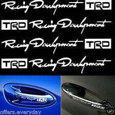 TRD 4Pcs Car Door Handle Stickers Decals Car Sticker White