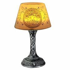 Tree of Life LED Mini Night Lamp 7 In Home/ Office Decor Celtic Silver Base