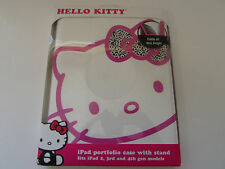 NEW Hello Kitty iPad Portfolio Case with Stand for iPad 2nd, 3rd,&4th Gen Models