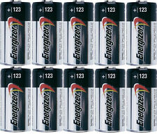 10 pc  ENERGIZER CR123 123 DL123 3v LITHIUM BATTERY CR123A CAMERA EXPIRE 12/2027