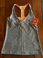 NWT THE NORTH FACE Tadasana VPR Print ATHLETIC TOP Quarry Grey Medium