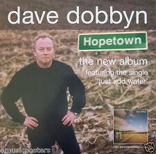 """DAVE DOBBYN """"HOPETOWN"""" AUSTRALIAN PROMO POSTER - Pop, Rock Music"""